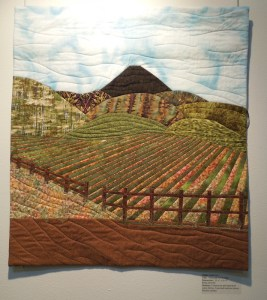 """Vineyards All Around"" -- an Art Quilt by Leslie Coe"
