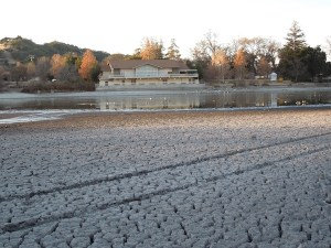 Looking Across Atascadero Lake to Pavilion December 30, 2013