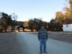 Kosta in Front of Covered Bridge at Halter Ranch