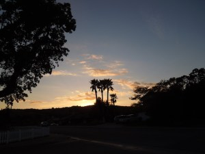 Sunset in Riverbank Tract