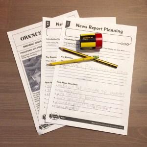 Worksheets on Skara Brae.