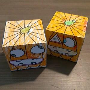 Hallowe'en Paper Pumpkins!