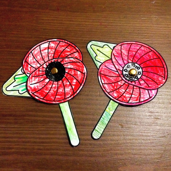 We Will Remember Them; split pin red poppies.