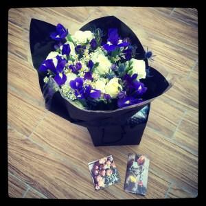 Prestige Flowers bouquet in luxury gift bag.