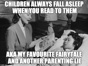 Bedtime routines do not rely on parental reading past toddlerhood. Or, indeed, ever.