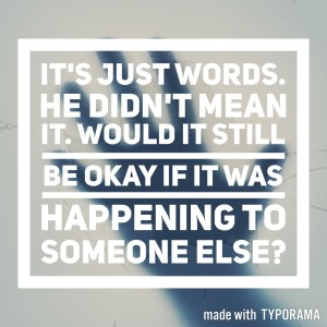 Domestic abuse; would it still be okay if it was happening to someone else?