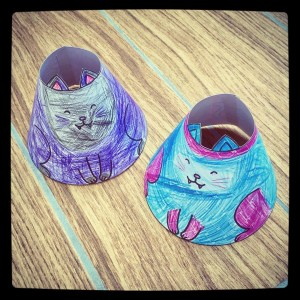 Cone people Hallowe'en cats!