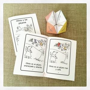Spanish mini book and fruit vocab fortune teller.