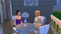Staring competition between Adalynn and Maranda Goth.