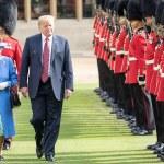 TRUMP a brošne kráľovnej Alžbety II