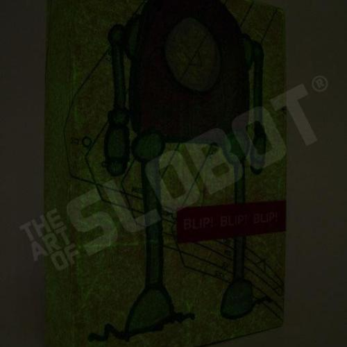 robot painting mike slobot glow in the dark
