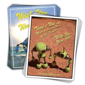 Robot Postcards Pack of 10 Mike Slobot