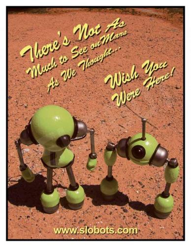 Mike Slobot Robot Postcard Mars