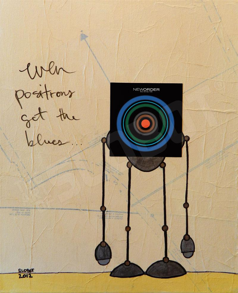 new order blue monday mike slobot music mixed media painting
