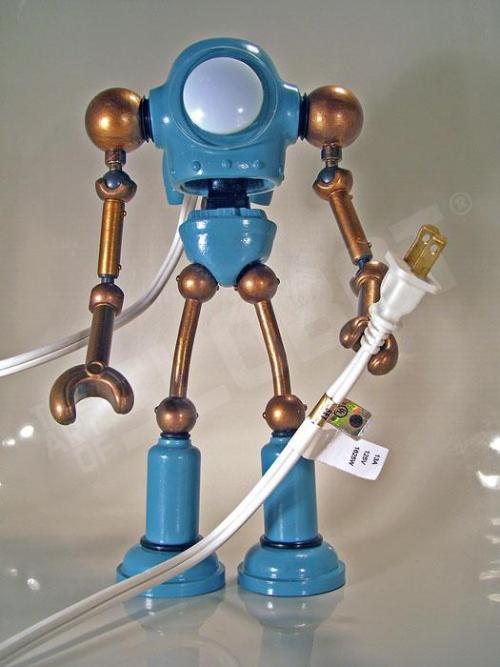 helper - robot sculpture by mike slobot