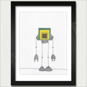Mike Slobot Joseph Albers Bauhaus Homage to a Square Robot Framed