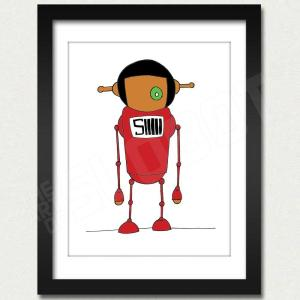 mike slobot willy wonka oompa loompa deep roy red slonkabot framed