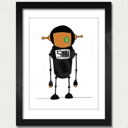mike slobot willy wonka oompa loompa deep roy black slonkabot framed