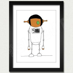 mike slobot willy wonka oompa loompa deep roy white slonkabot framed