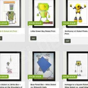 mike slobot robot pop art prints and giclee
