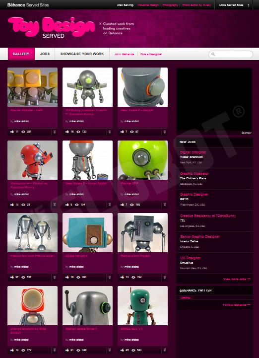 Mike Slobot Toy Design Served Featured Artist