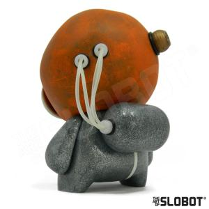 Mike Slobot G49 Robot Art with the Glow In The Dark Wires