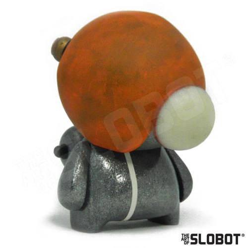 Mike Slobot G49 Robot Art space age orange silver