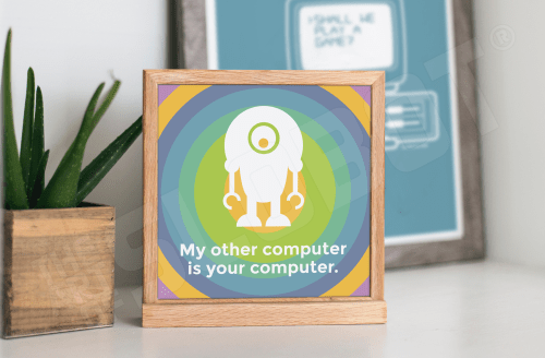 Mike Slobot - My Other Computer Is Your Computer Natural Desk Frame