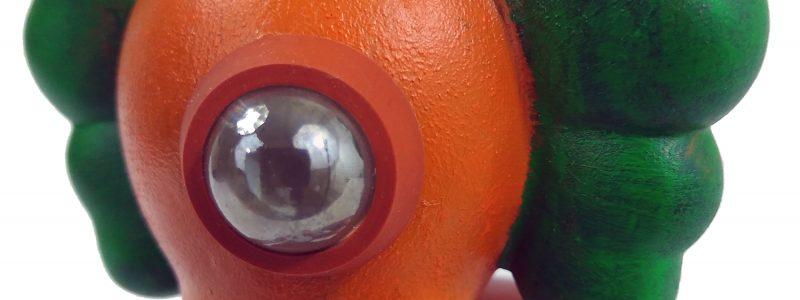 Mike Slobot Custom KAWS Companion Slonkabot 1000 Wonka oompa loompa detail glas eye