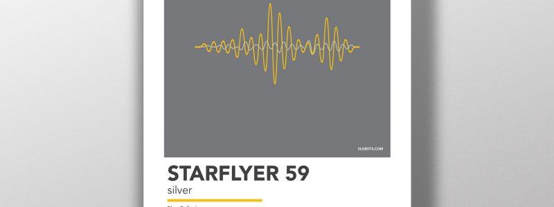 Mike Slobot - Starflyer 59 - SIlver - Minimal Alternative Poster Print Art Shoegaze Indie Rock
