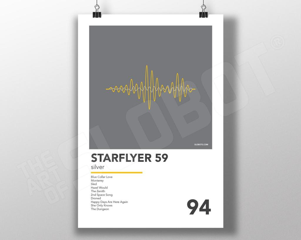 Mike Slobot - Starflyer 59 - Silver Minimal Alternative Poster Print Art