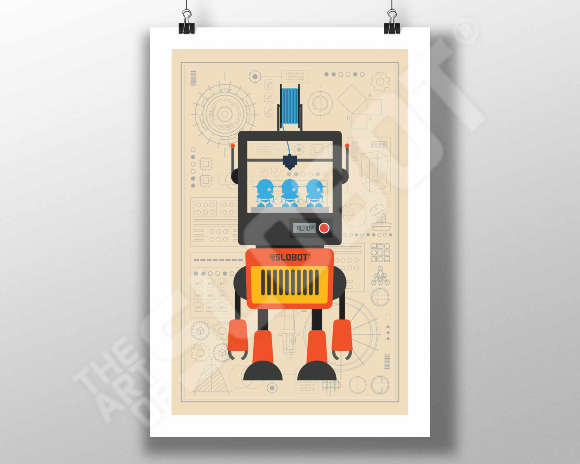 Mike Slobot and the Original 3D Printer Robot