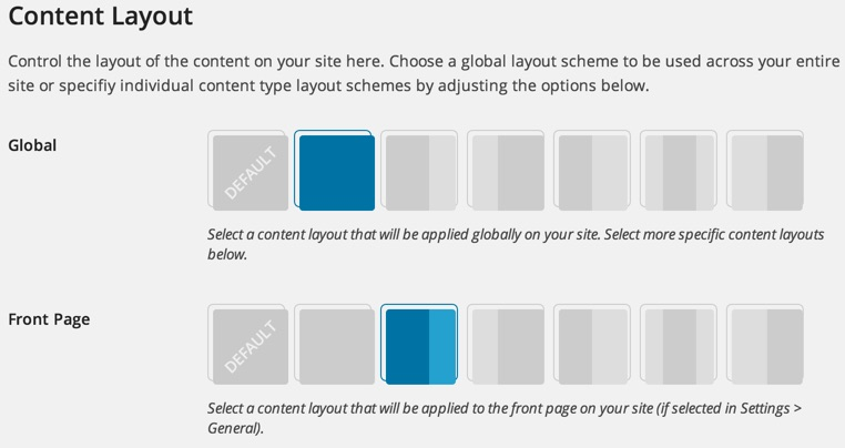 WordPress custom content layouts