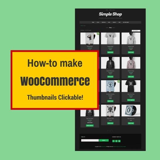 make woocommerce thumbnails clickable