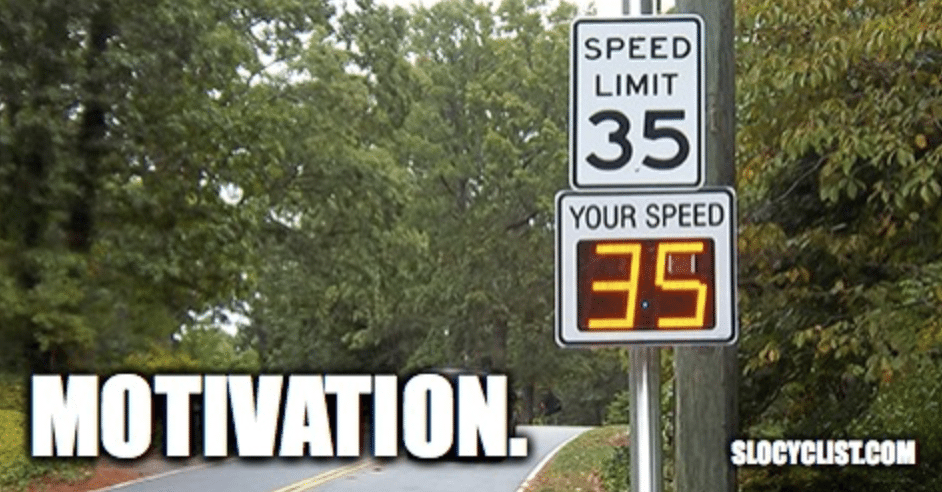 Funny Bicycle Meme motivation speed road sign