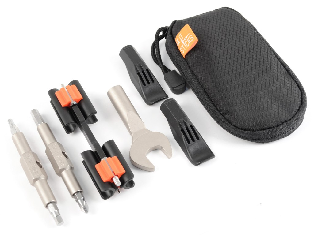 Fix It Sticks looks to solve the junk drawer saddle bag problem by utilizing their compact designs to provide a modular solution to building the perfect on the road repair kits.
