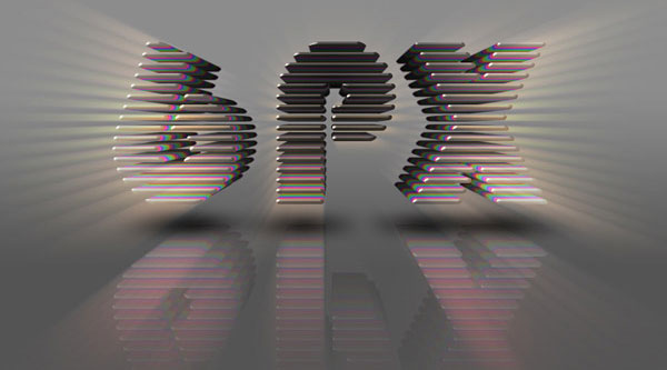 3D Layered Text Effect