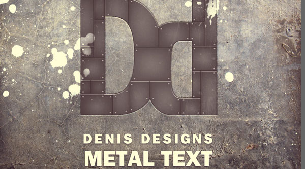 Create a Retro Metal Text poster in Photoshop