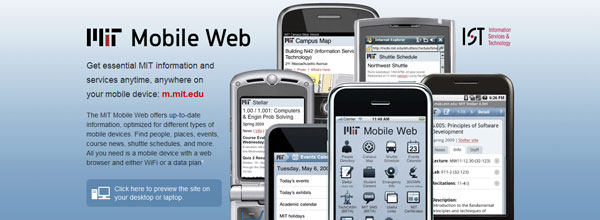 best customized iphone websites MIT Mobile Web
