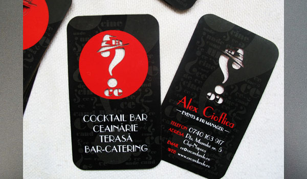 Cocktail Bar Business Card