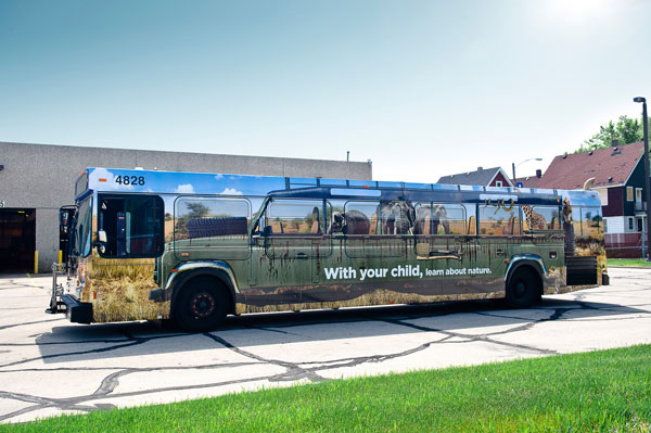 COA's HIP Program (Having Involved Parents): Bus wrap safari