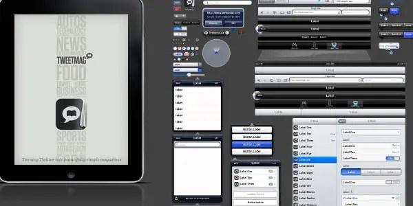 iPad GUI PSD - Version 2