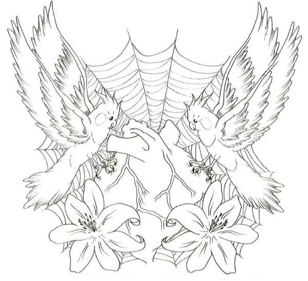 Ideas tatoo: Angel tattoo chest designs