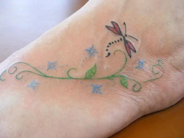 groovy dragonfly tattoo design