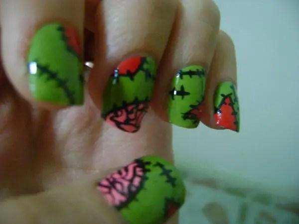Zombie Nails Rob Nail Art By Samariumsswatches Nailart Sonoma