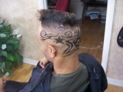artistic hair tattoo design