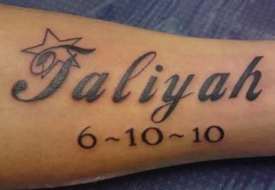 Kid Name Tattoo Designs