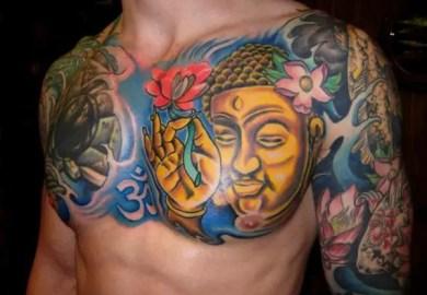Buddhist Tattoos On Chest Tattoo Designs
