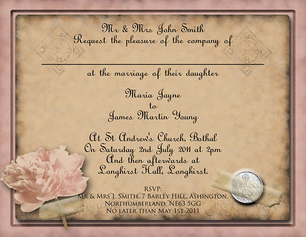 Hearts Beach Wedding Invitation Ppt Format Template Free