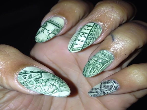 Pointed Tipped One Dollar Bill Nails